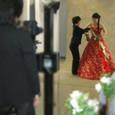 イブニングドレス スタンディングポース撮影